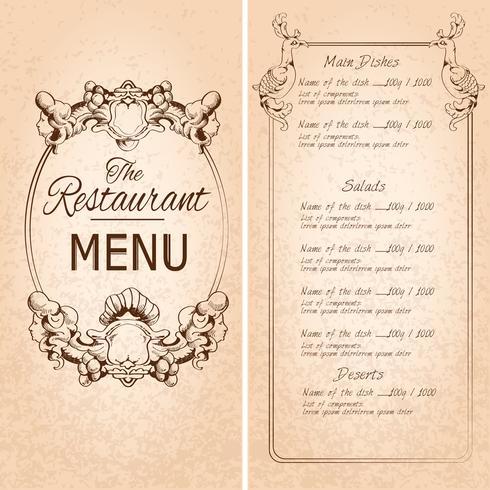 Restaurangmenymall vektor