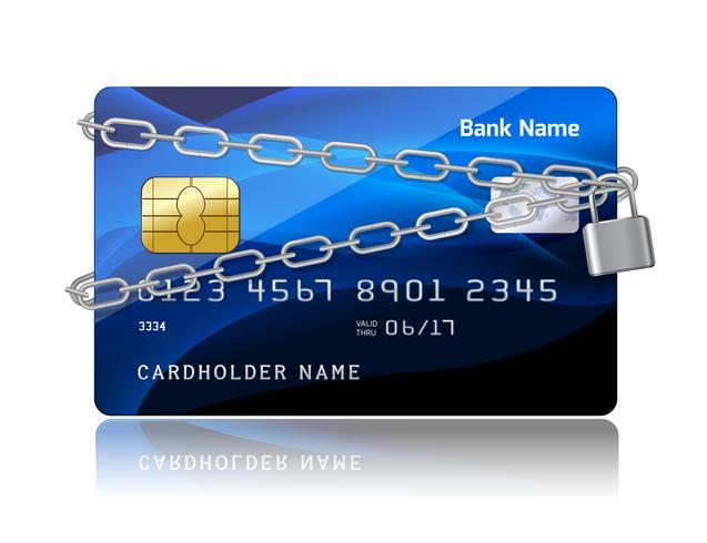 Betalningssäkerhet för kreditkort med chip vektor