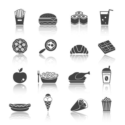 Fast-Food-Icon-Set vektor