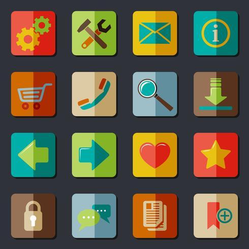Webbplats ikoner Ange vektor
