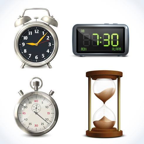 Realistische Uhr eingestellt vektor