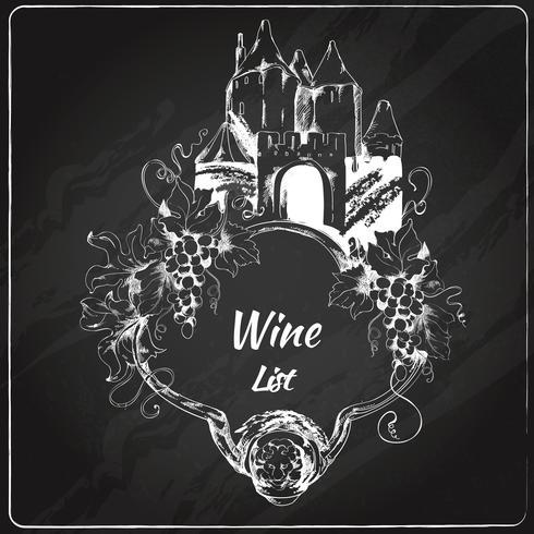 Weinkarte Tafel Aufkleber vektor