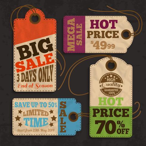 Shopping-Etiketten und Tags-Sammlung vektor