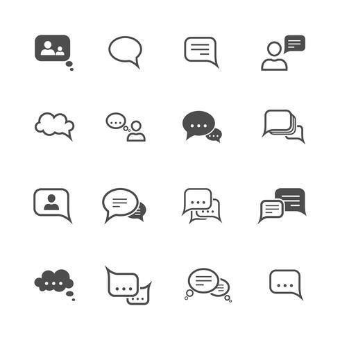 Chat ikonuppsättning vektor