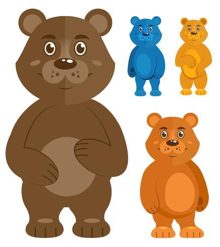 Dekorative Teddybärikonen eingestellt vektor