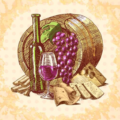 Weinkäse-Emblem vektor