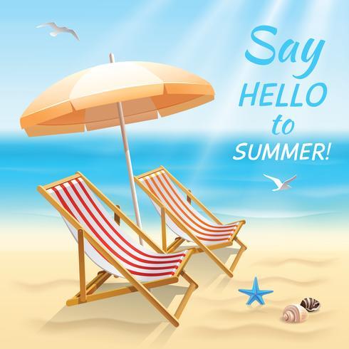 Sommerferien Hintergrundbild vektor