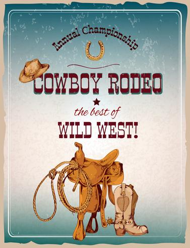 Rodeoposter farbig vektor