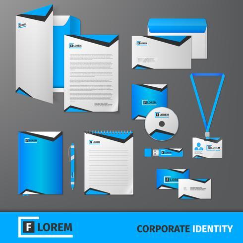Corporate Identity-Vorlage vektor