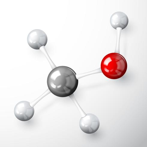 Molekylmodellkoncept vektor
