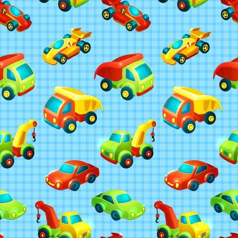 Transport leksak sömlöst mönster vektor