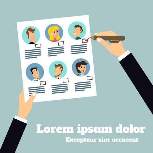 Poster zur Auswahl von Geschäftssachen vektor
