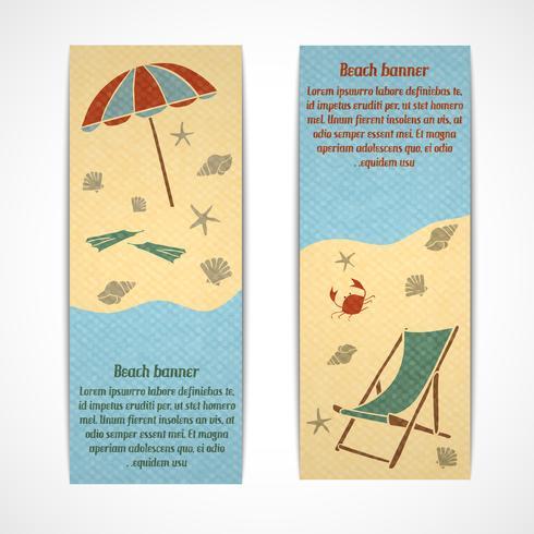 Sommar semester banners vertikala vektor