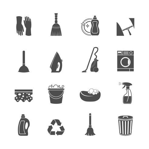 Reinigungs-Icon-Set vektor