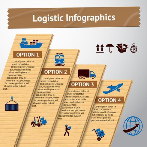 Logistisk infografisk mall vektor