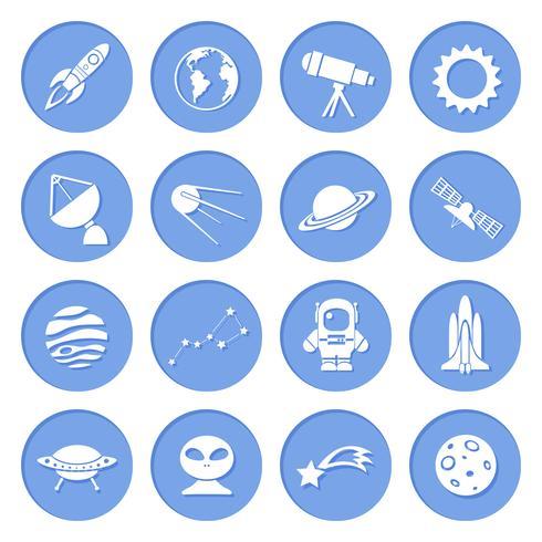 Symbole für Weltraum und Astronomie vektor