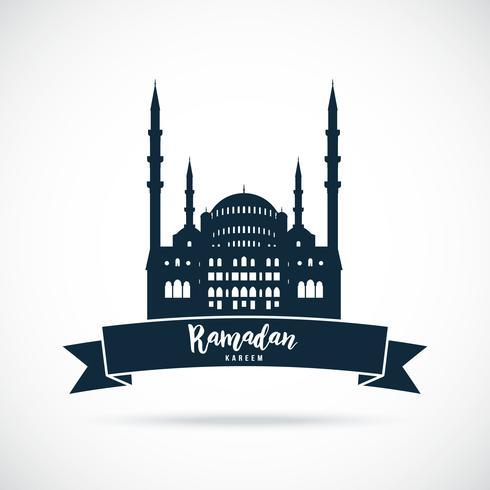 Ramadan Kareem Moschee Zeichen. vektor