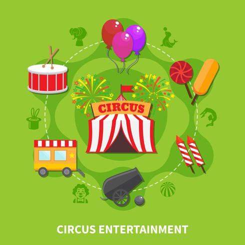 Cirkus underhållningskoncept vektor