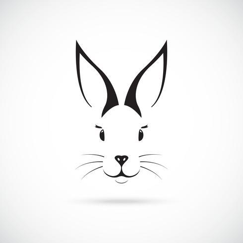 Süßer Hase mit großen Ohren. vektor