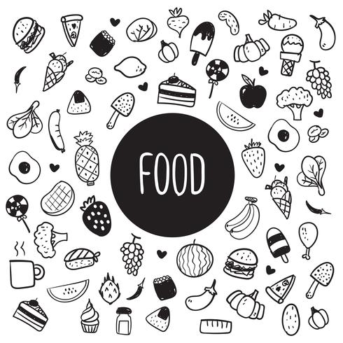 Lebensmittel gesundes Design vektor