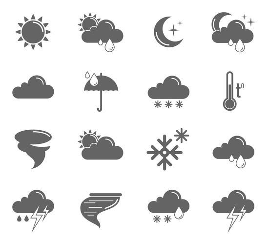 Väder Ikoner Set vektor