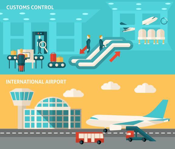 Banner Flughafen Set vektor