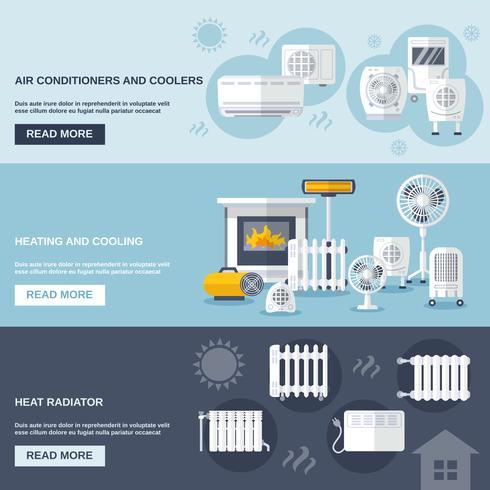 Heizung und Kühlung Banner vektor