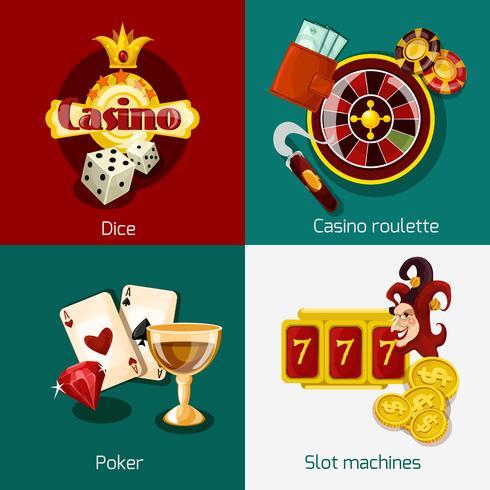 Casino-Konzept festgelegt vektor