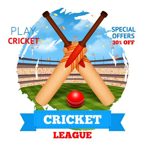 Cricket Stadion Abbildung vektor