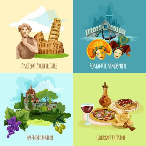 Italien touristisches Set vektor