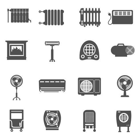 Heizung und Kühlung Icon Set vektor