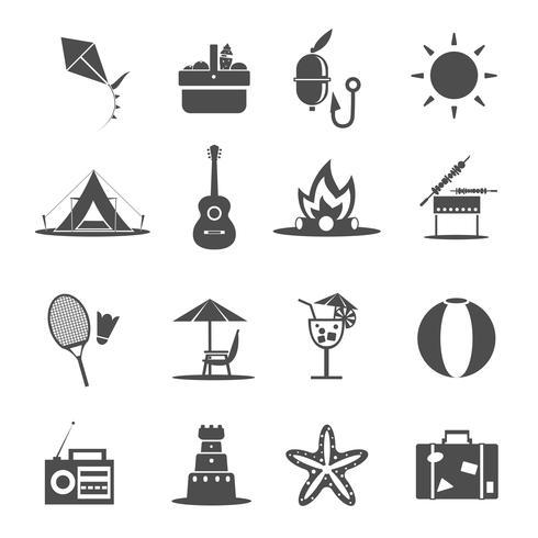 Sommer-Symbol schwarz vektor