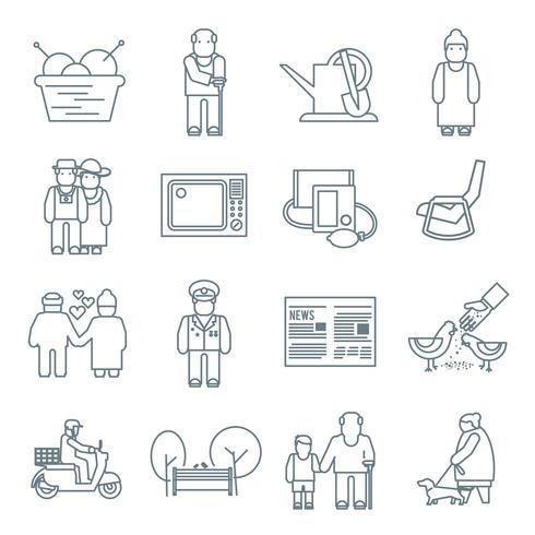 Pensioners livsymboler vektor