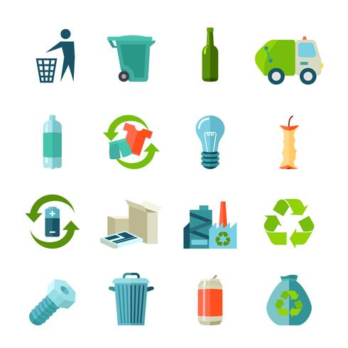 Recycling Icons Set vektor