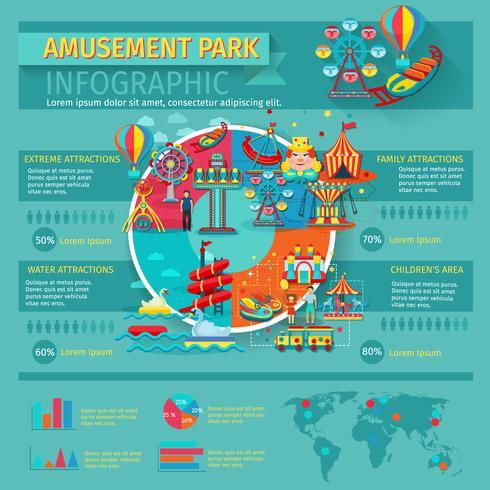 Nöjespark Infographics vektor