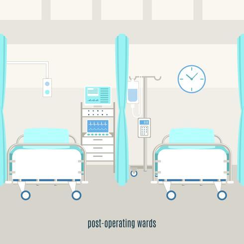 Medicinsk postoperativ återhämtningsavdelning vektor