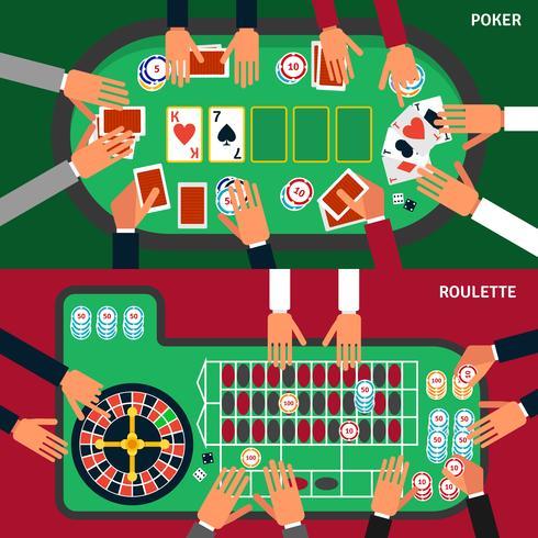 Casino Game Banner Set vektor