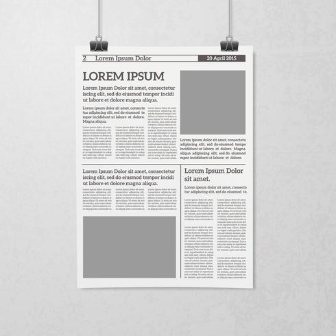 Hängendes Zeitungskonzept vektor