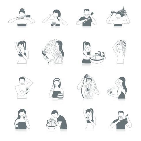 Hygiene-Icons Set vektor
