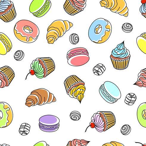 Kuchen nahtloses Muster vektor