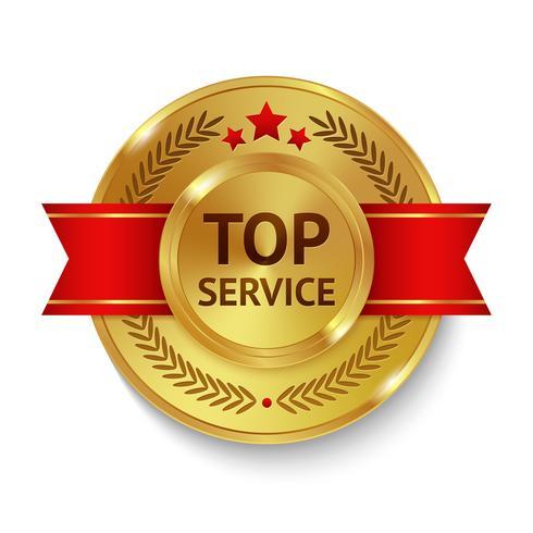 Top Service-Abzeichen vektor