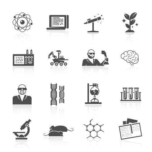 Wissenschaft und Forschung Icon Set vektor