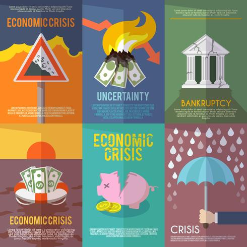 Wirtschaftskrise Poster vektor