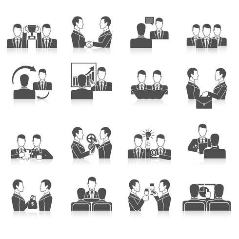 Partnerschafts-Icons Set vektor