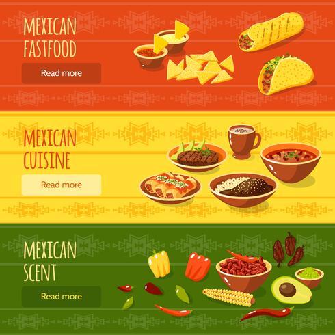 Mexikanisches Essen Banner Set vektor