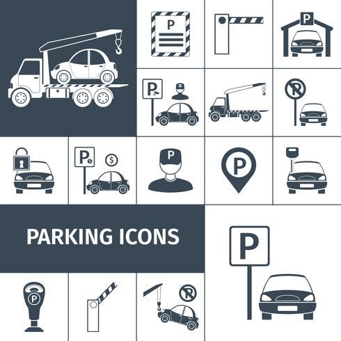 Parkplatz-Set vektor
