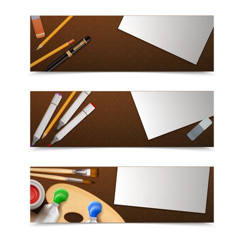 Zeichnungsfahnen horizontal vektor