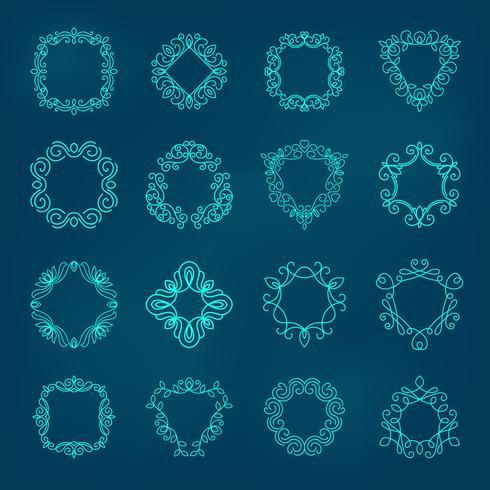 monogramuppsättning illustration vektor