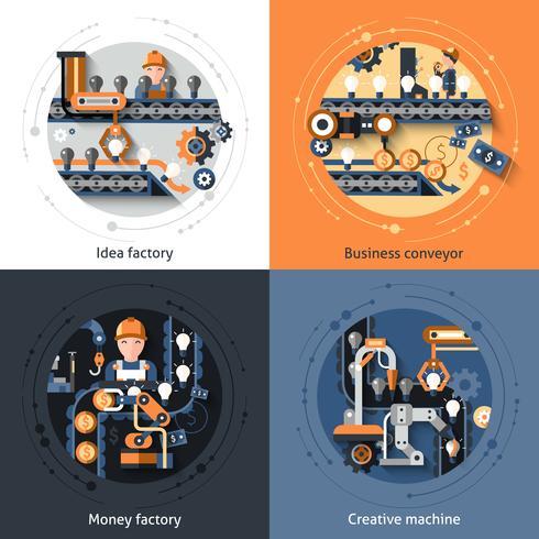 Företagstransportörsuppsättning vektor