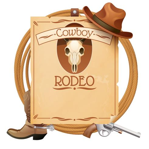 Rodeo-Retro-Plakat vektor